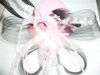 feather fascinator hat, hair clip accessorie- 12pcs/lot