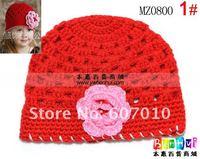 The new mesh wool weave children's hand-hat,  HOT Kids Flower Caps 10pcs/lot BABY HAT