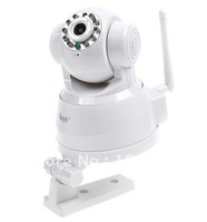 Free Shipping  EasyN WIFI IR 2-Audio Webcam Wireless IP Camera with color box