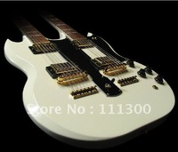 best Custom Shop EDS-1275 Double Neck, Alpine White Electric Guitar By Spring