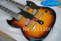 Double neck Vintage sunburst Electric Guitar in stock 2011