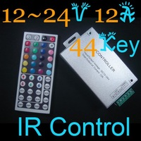 2012 New High Quality 1Pcs  IR LED lights Control 44key 12-24V 12A 44key A1604  RGB LED Controller  With Free Shipping Cost