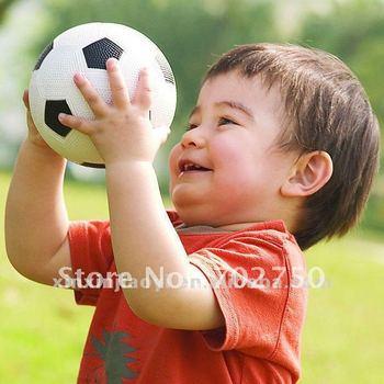 customized logo mini football&soccer black and white