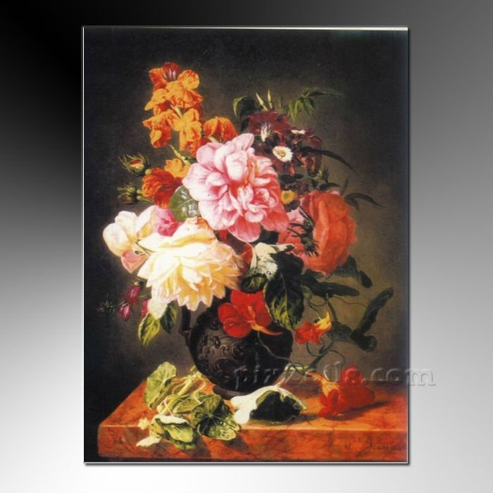 Famous Flower Paintings Painting by Famous Artists