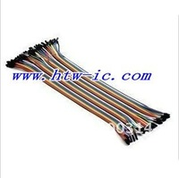 80pcs,2 Lot,30cm Dupont wire cable Line 1p-1p pin connector  2.54mm,electronic components & Free shipping