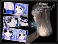 Wholesale Free Shipping Hot Selling Cheapest Halloween Vampire Knight Cosplay Wig Maria Renai Wig