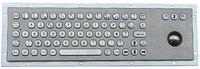 IP65 vandal proof industrial stainless steel keyboard with LASER trackball(X-BP711B-S)