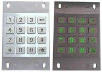 IP65 vandal proof  stainless steel backlight numeric keypad(X-KN163B)