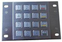IP65 anti-vandal  stainless steel numeric keypad(X-KN164B)