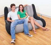 Deluxe double size  sofa,pvc flocked sofa ,inflatable sofa
