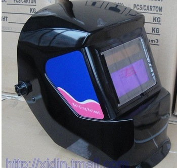 Solar Cell with Lithium Battery AUTO DARKENING WELDING HELMETS welding mask E5 {we have good package for the product }