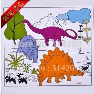 Free Shipping! Dinosaur Design-Kids Doodle/Drawing Toy/Water Color Panting with 5pcs Water Color Pen, 12pcs/lot(China (Mainland))