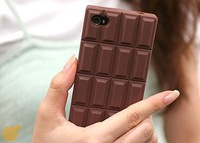 Free shipping new fashion mobile phone Chocolate Soft Rubber Silicone Cases For iPhone 5 5S