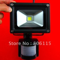 10w/20w/30w/50w/70w PIR floodlight 1pcs/lot LED 90-100lm/w 10w PIR flood light, Black shell 10w PIR led flood light