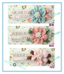 top freeshipping baby headband /big flower hair band/beautiful hear wear/ hair accessories 10pcs/lot hotsale wholesale(China (Mainland))