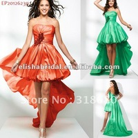 Newly Designed Strapless Short  Front  Long Train Party Dress 2012