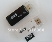 free shipping USB 2.0 MS Micro(M2) MS Duo Memory Stick Micro Card Reader