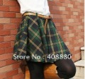 The new Korean Institute of wind leisure wild lattice oversized swing skirts