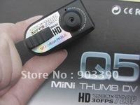 Hot selling gifts! HD720P digital camera/HD mini dv/Mini camera Q5 Black color 12 million pixels free shipping by DHL