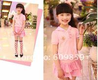 New children clothing sets baby sets Girls' Angel wings girl skirt Top + skirt sport suit dresses summer dress (5 pcs/lots)