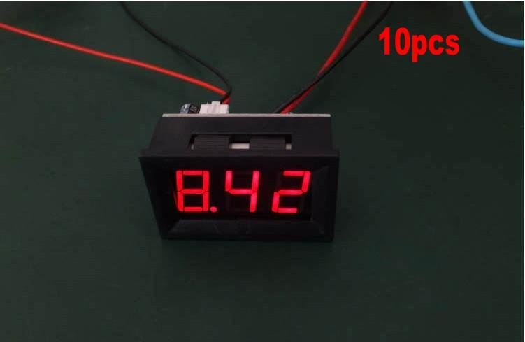 Free shipping,10pcs DC 0 to 9.99A Red Panel Meter DC Digital Current Ammeter Panel Meter Power Monitor(China (Mainland))