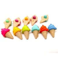 Free Shipping 100 Mixed Resin Ice Cream Sewing Shank Buttons Scrapbooking 20x13mm Knopf Bouton(W01496 X 1)