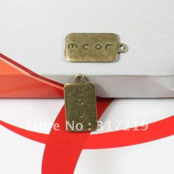 30pcs/lot 25*13mm Antique Bronze Charms alloy LOVE brand Pendants Beads,Necklace and Bracelet Pendant