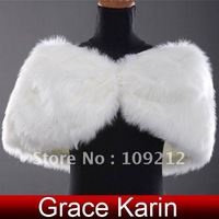 Free Shipping 1pcs/lot GK Ladies' Faux Fur Shrug Wedding Party Bolero Shawl CL2620