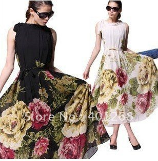 Womens dresses ladies printed dress maxi dress party dress evening dress Bohemian beach dress 3830