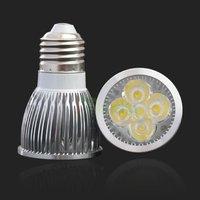 Free shipping/5W 5x1W Screw Led Home Warm White Light Bulb Lamp 110V/220V AC85-265V E27 Plug #2779