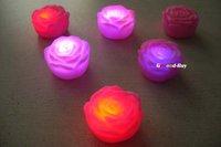 8PCS Baby Bath Bathing Funny LED Flashing Romantic Roes Toy Rubber