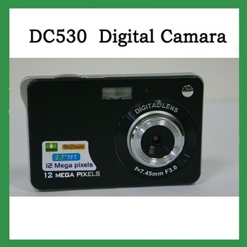 "free shipping waint DC530  black 2.7"" TFT 12.0Mega pixels digital camera ,Camera-digital-video,DV camera black"