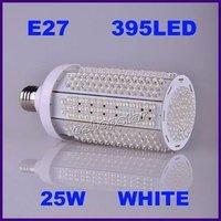 Free Shipping New Pure White E27/E14/B22 110V/220V 25W 395 LEDs LED Corn Light Bulb Lamp +Wholesale And Retail