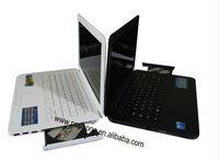 desktop laptop computer pc 14 inch 4G/640G intel atom Dual core D2500 1.86Ghz with dvd rom windows 7