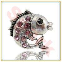 Retro Fishing Ring Fashion Rhinestone Ring Fashion Adjustable Animal Ring Min $10 Can Mix Free Shipping