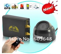 HOT Sell! Free shipping GPS GSM Motorcycle Vehicle tracker,GPS car tracker TK106B Alarm System with Camera Free PC Track System