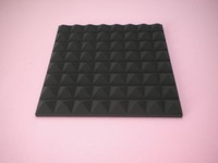 16pcs Hing Quality Acoustic Pyramid Foam Panels Sponge Black Color Free shipping