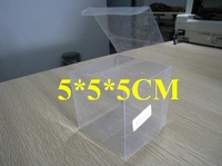 Free shipping 100pcs 5X5X5cm PVC transparent packing box