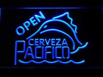 059-b Cerveza Pacifico Beer OPEN Bar Neon Light Sign