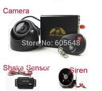Free shipping!! Brand NEW Vehicle Car GPS Tracker TK106B+Remote control+Shake sensor+Siren+Camera Hot Sell!!