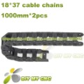 18X37 Cable drag chain wire carrier 18mm*37mm Plastic Cable Chain with end connectors for CNC Machines Tool DIY