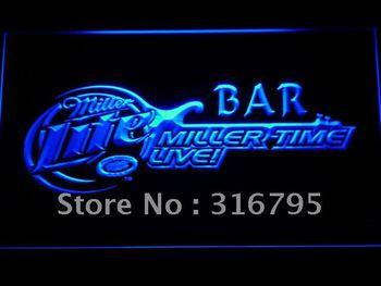 409-b Miller Time Live Bar Beer Neon Light Sign