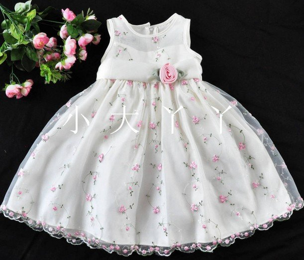 Newest! lovely baby girl performance wear 6~9T,baby girl Princess dress,cute kids evening party frocks,infant flower girl skirt