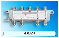 Satellite Splitter, 8 way splitter, catv splitter, GS01-08, 5-2400Mhz antenna splitter, RF Signal Combiner