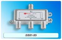 Satellite Splitter, 3 way splitter, catv splitter, GS01-03, 5-2400Mhz antenna splitter, RF Signal Combiner