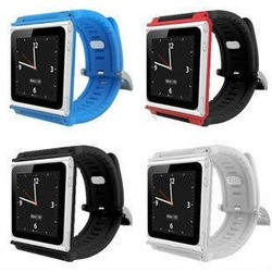 Color Watch Strap Silicon Case For iPod Nano6 Free shipping to U.S.A(China (Mainland))