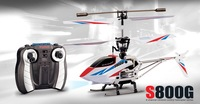 NEW Syma S800 S800G 4-Channel 4CH Infrared Coaxial Radio Remote Controlled Helicopter RC Metal W/Gyro/LED Flash for gift toy