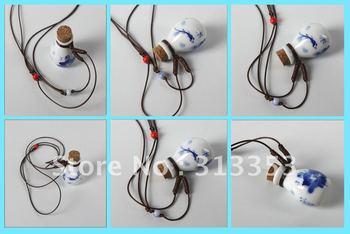 Ceramic Perfume Necklaces,original ceramic jewelry Porcelain Pendant ,ceramic sweater necklace