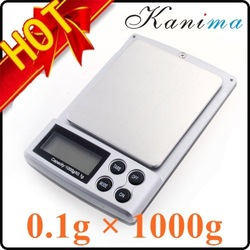 20 ps/lots HOT Sale 0.1/1000g Portable Pocket Electronic Digital Diamond Jewelry Gem Scale Mini LCD Weighing Scale Balance N236E(China (Mainland))