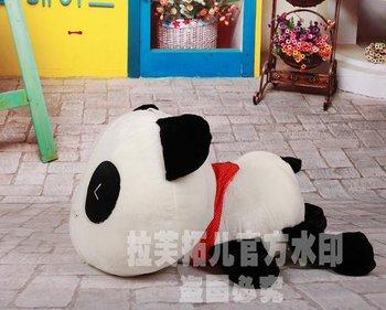 Genuine lies big head Papa Panda Jumbo pillow, Panda plush toy doll girls birthday gifts 100cm